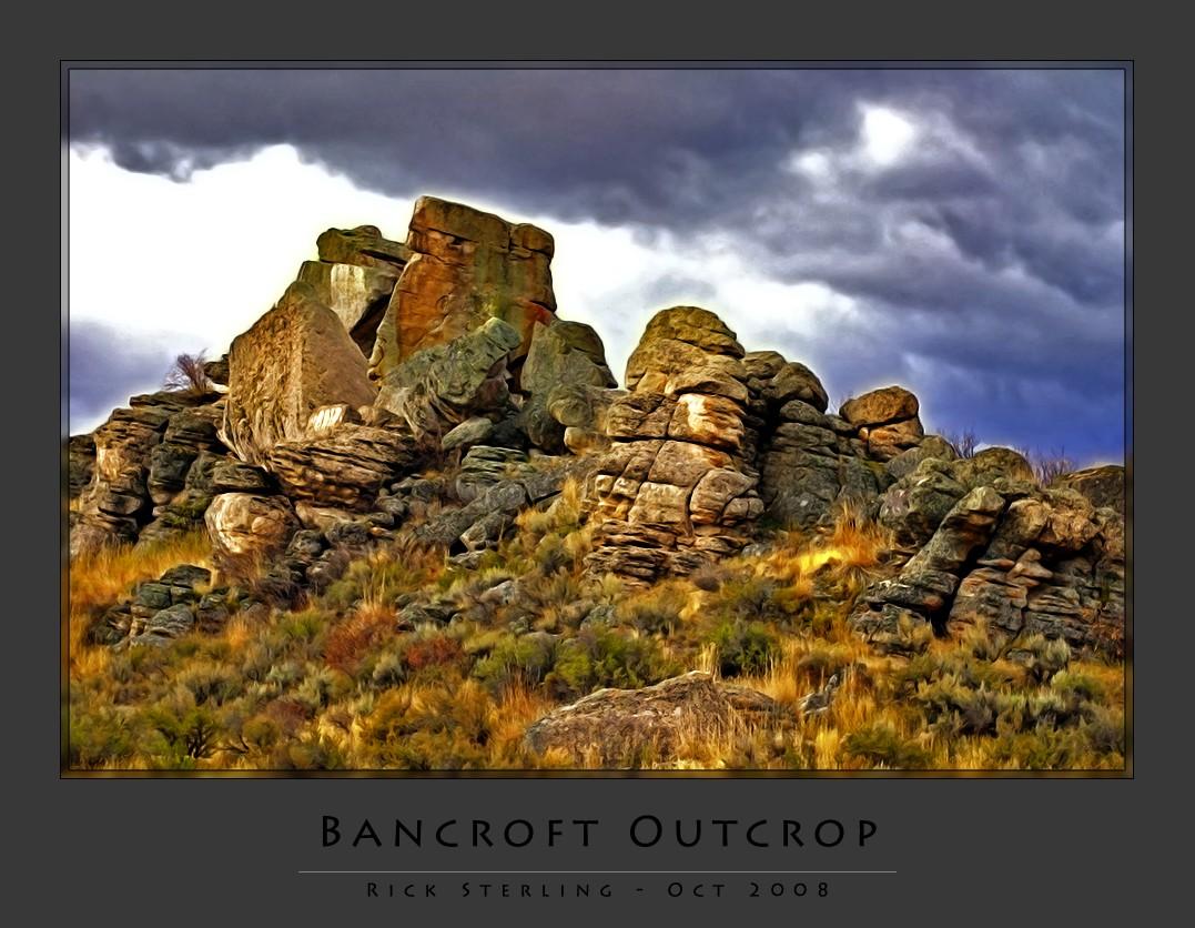 Outcrop of Boulders near Bancroft, Idaho
